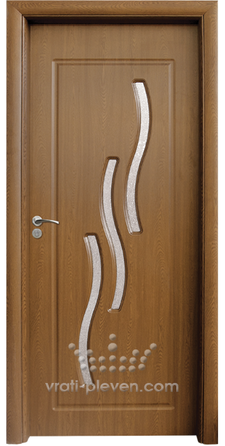 Интериорна HDF врата, модел 014 Златен дъб
