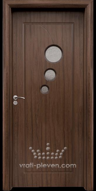 Интериорна HDF врата, модел 017 Орех