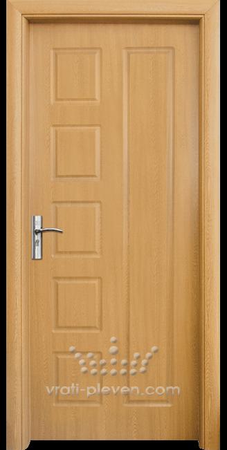 Интериорна HDF врата, модел 048-P Светъл дъб