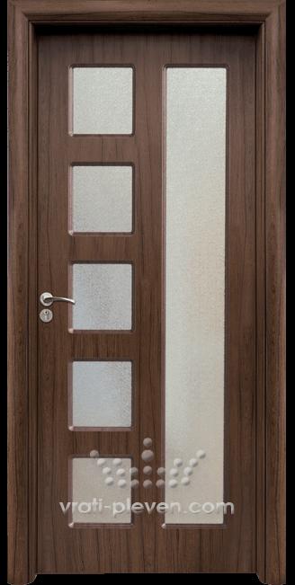 Интериорна HDF врата, модел 048 Орех