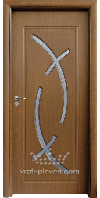 Интериорна HDF врата, модел 056 Златен дъб