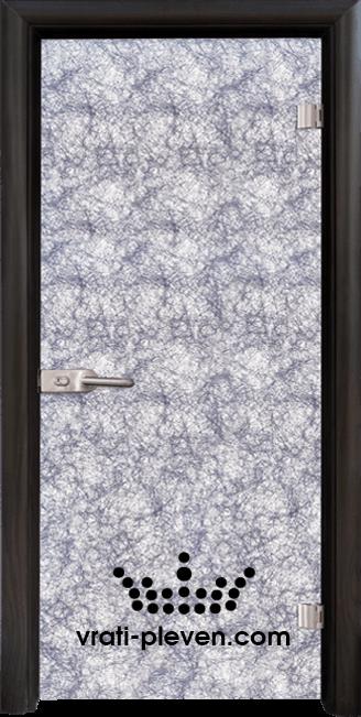 Стъклена интериорна врата модел Fabric G 12-1 Сребърен с каса Венге