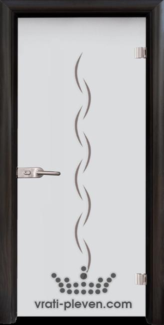 Стъклена интериорна врата модел Sand G 13-1 с каса Венге