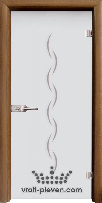 Стъклена интериорна врата модел Sand G 13-1 с каса Златен дъб
