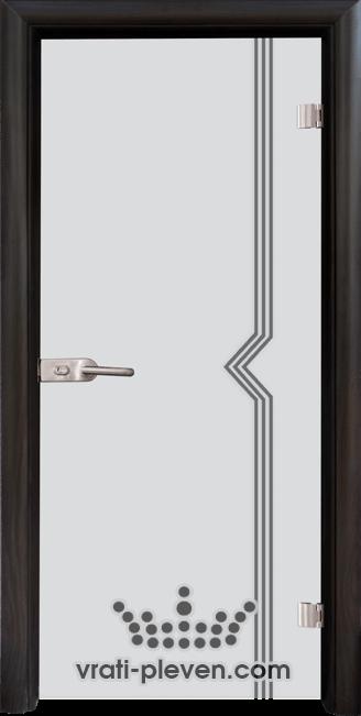 Стъклена интериорна врата модел Sand G 13-3 с каса Венге