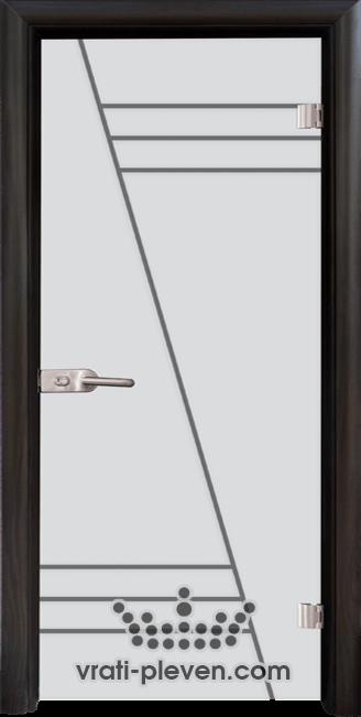 Стъклена интериорна врата модел Sand G 13-4 с каса Венге