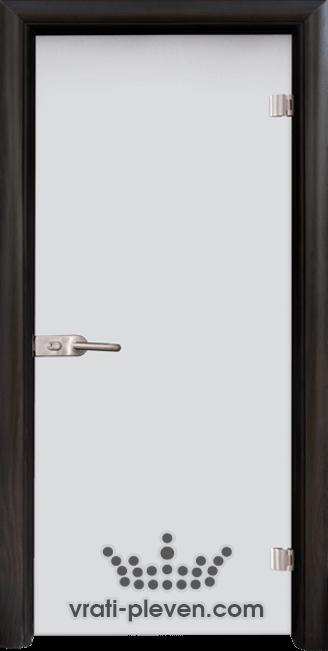 Стъклена интериорна врата модел Matt G 11 с каса Венге