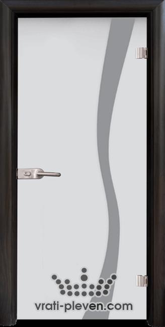 Стъклена интериорна врата модел Sand G 14-1 с каса Венге