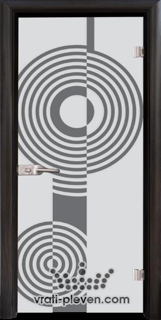 Стъклена интериорна врата модел Sand G 14-6 с каса Венге
