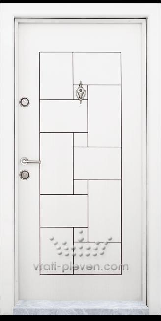 Блиндирана входна врата, модел Т100 Бял