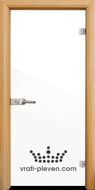 Стъклена интериорна врата модел Folio G 15-1 с каса Светъл дъб