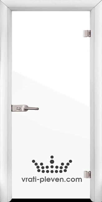 Стъклена интериорна врата модел Folio G 15-1 с каса Бяла