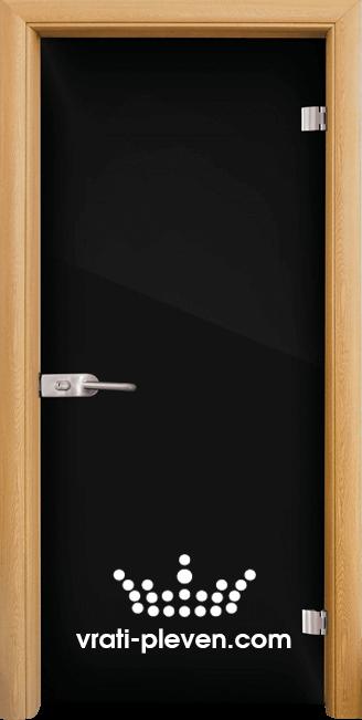 Стъклена интериорна врата модел Folio G 15-2 с каса Светъл дъб