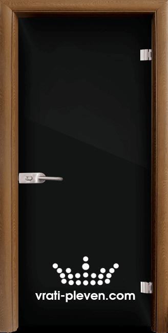 Стъклена интериорна врата модел Folio G 15-2 с каса Златен дъб