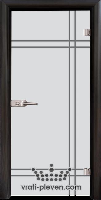 Стъклена интериорна врата модел Sand G 13-8 с каса Венге