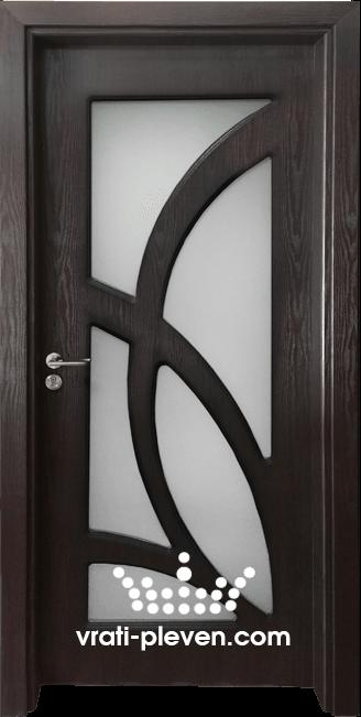 Интериорна врата Гама 208, цвят Венге