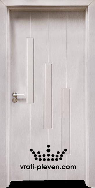 Стъклена интериорна врата Гама 206p, цвят Перла