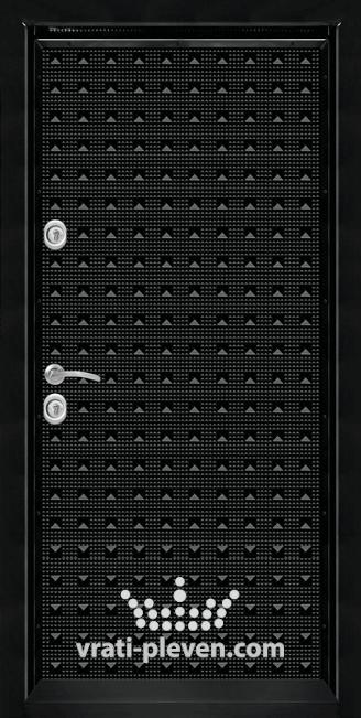 Блиндирана входна врата Т777, панел Черен гланц