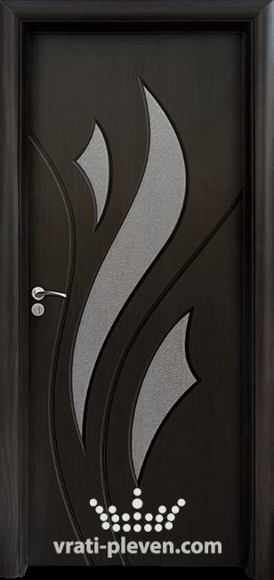 Интериорна HDF врата, модел 033 цвят Венге