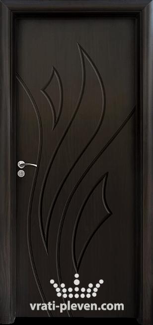 Интериорна HDF врата, модел 033-P цвят Венге