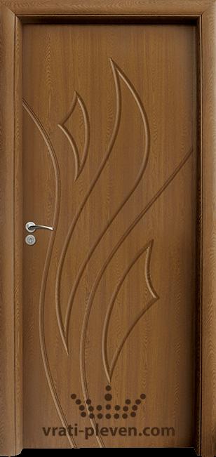 Интериорна HDF врата, модел 033-P цвят Златен Дъб