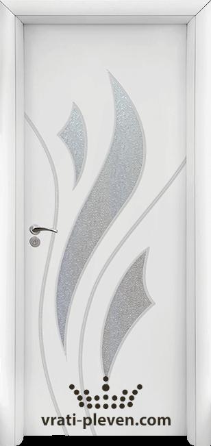 Интериорна HDF врата, модел 033 цвят Бял