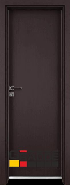Алуминиева врата за баня – Граде цвят Орех Рибейра