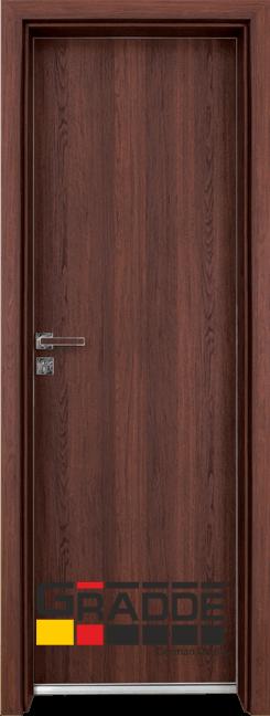 Алуминиева врата за баня – Граде цвят Шведски Дъб