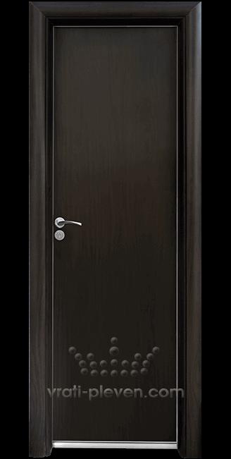 Алуминиева врата за баня – Стандарт, цвят Венге