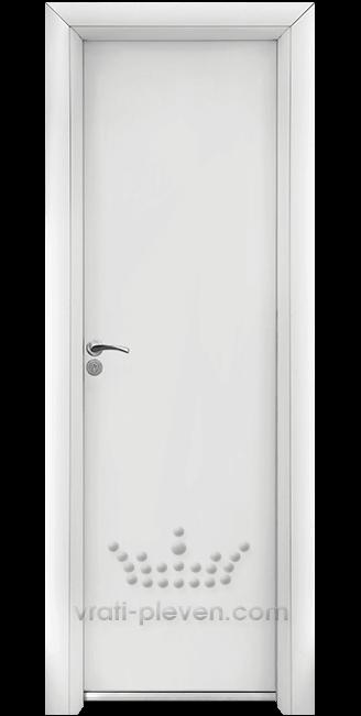 Алуминиева врата за баня – Стандарт, цвят Бял