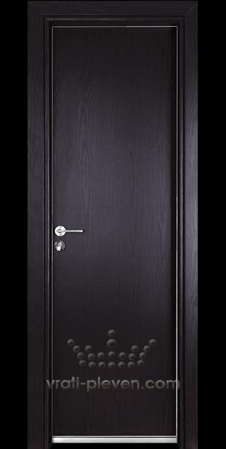 Алуминиева врата за баня – Гама, цвят Венге