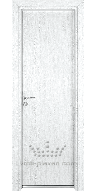 Алуминиева врата за баня – Гама, цвят Бреза