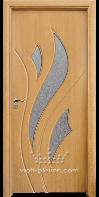 Интериорна HDF врата, модел 033 цвят Светъл Дъб