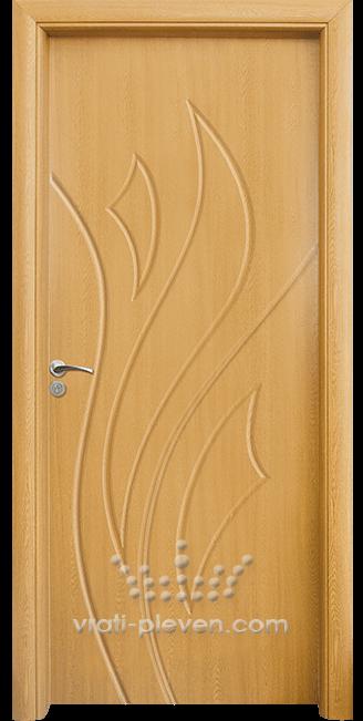 Интериорна HDF врата, модел 033-P цвят Светъл Дъб