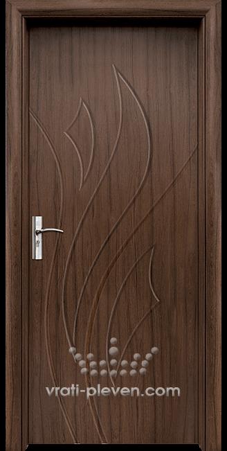 Интериорна HDF врата, модел 033-P цвят Орех