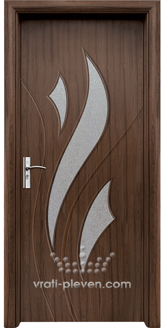 Интериорна HDF врата, модел 033 цвят Орех