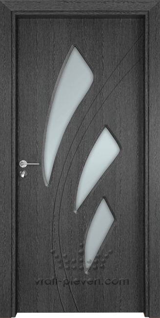 Интериорна врата Гама 202, цвят Сив Кестен