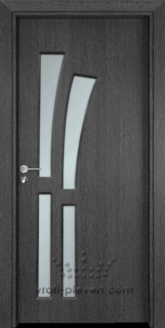 Интериорна врата Гама 205, цвят Сив Кестен