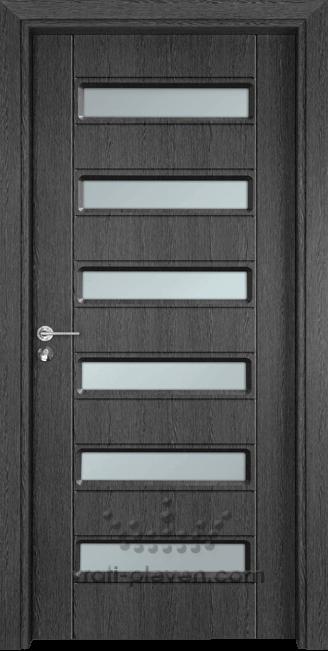 Интериорна врата Гама 207, цвят Сив Кестен