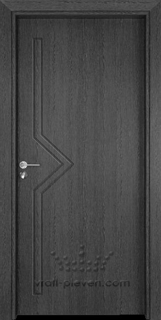 Интериорна врата Гама 201p, цвят Сив Кестен