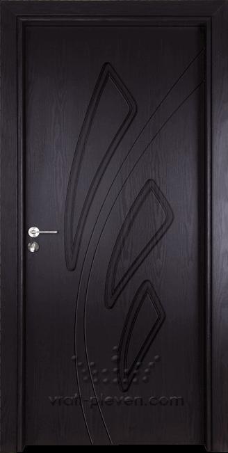 Интериорна врата Гама 202p, цвят Венге