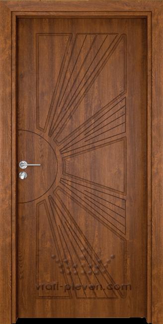 Интериорна врата Гама 204p, цвят Златен Дъб
