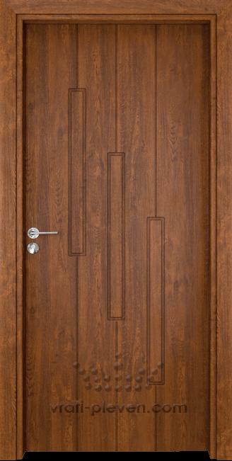 Интериорна врата Гама 206p, цвят Златен Дъб